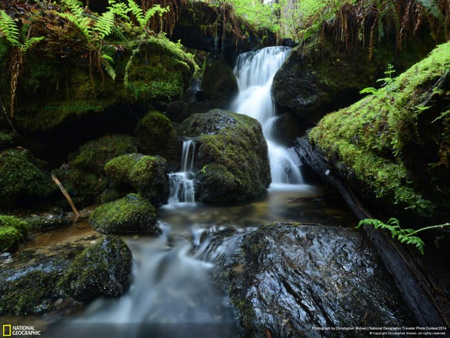 pictures of nature - Trillium Falls - Redwood National Park, California