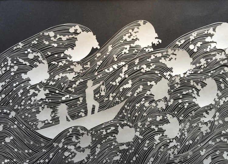 artwork with paper