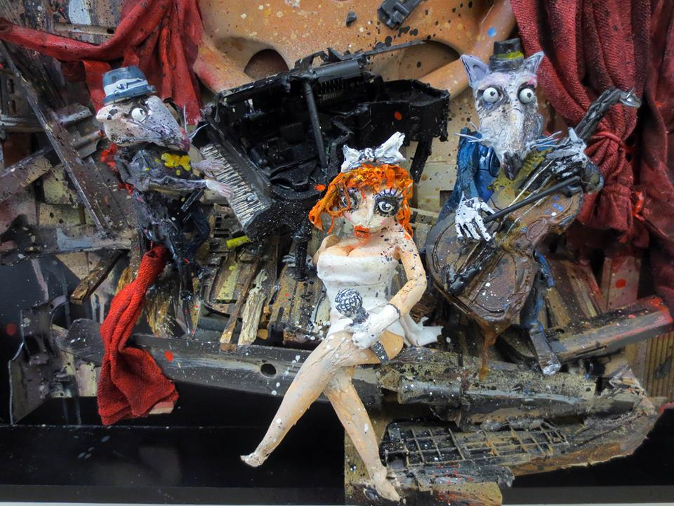 recycled sculpture Dream Theater