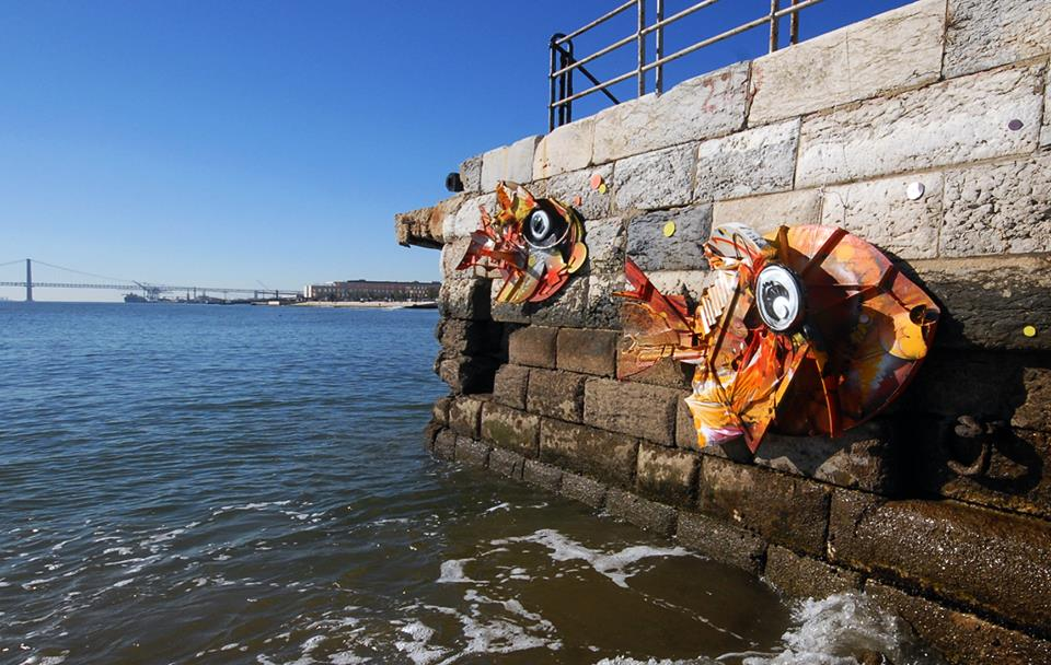 recycled sculpture fish