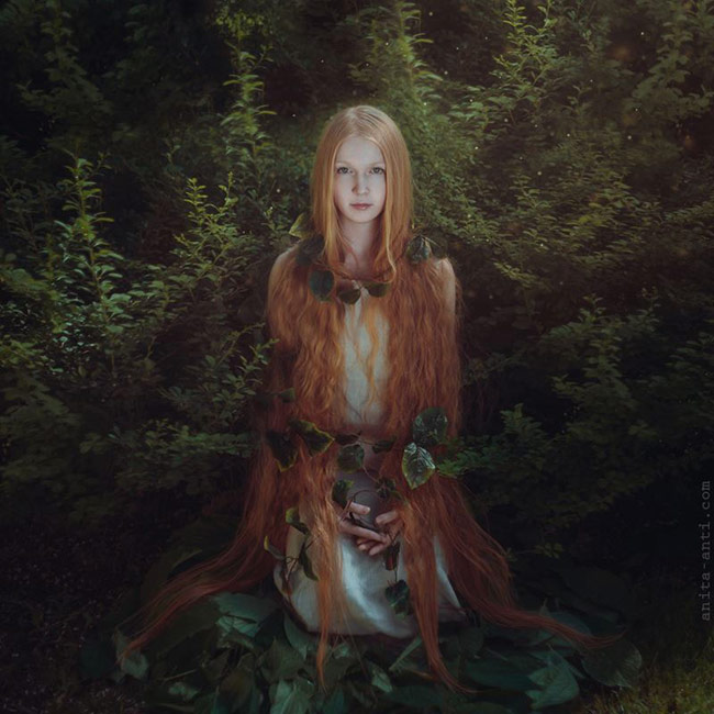 magical photos of women with animals - Ivy
