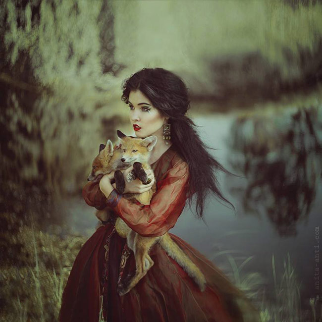 fairytale photography with animals by anita anti - Witch