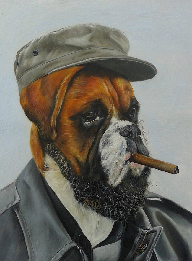 oil paintings of people's pets
