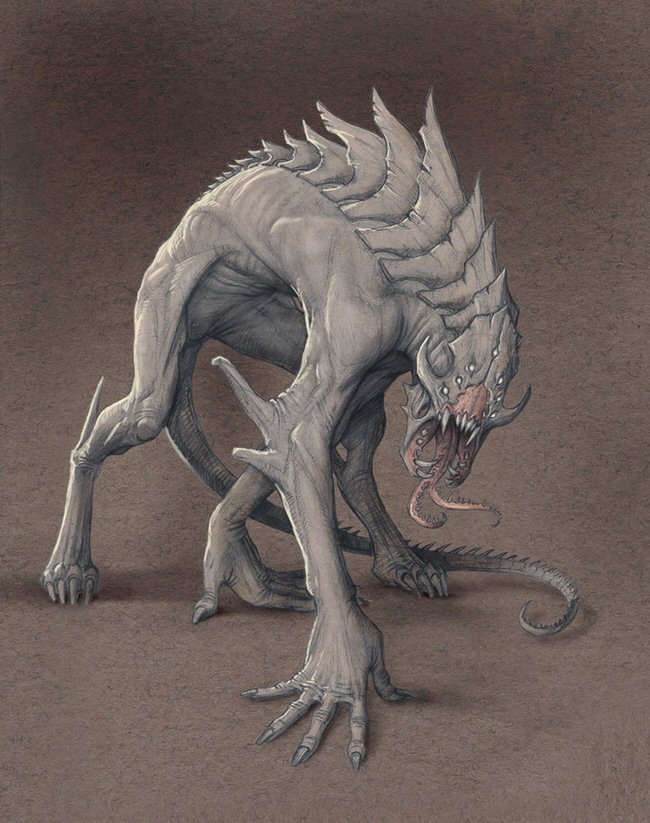 monster-drawings-demon_hound