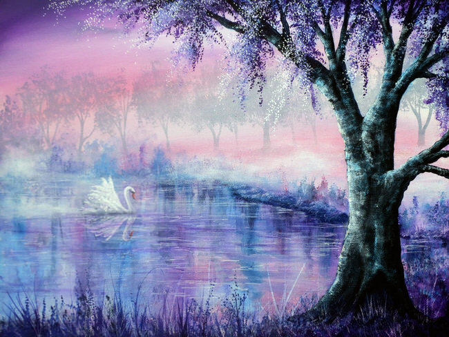 nature-oil-paintings-misty_moment