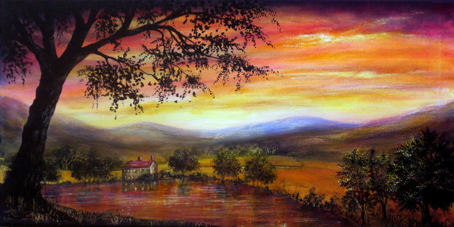 vibrant-nature-paintings-welcome_home