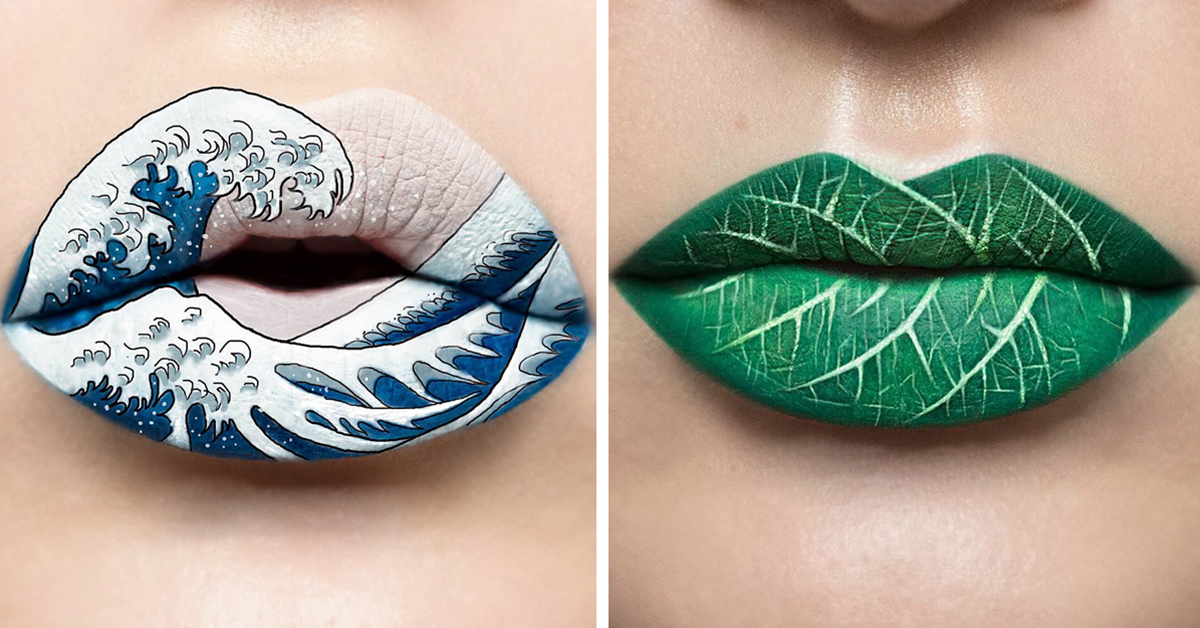 Stunning Lip Art By Andrea Reed