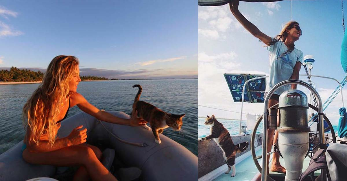 Woman Takes Her Cat On Sailing Adventures All Over The World  Top13